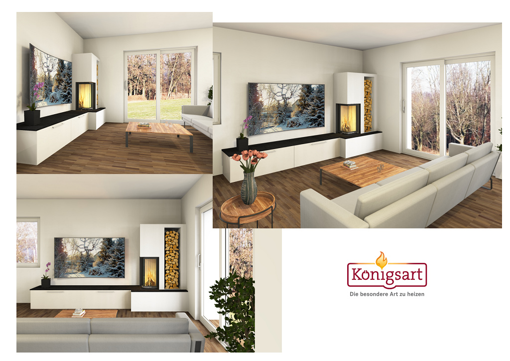 Kamine Königsart Schwechat/Wien - 3D Entwurf